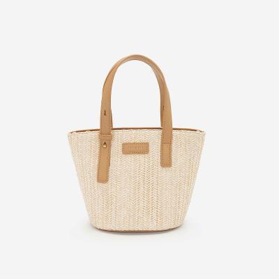 Leather Handbag - TOT 0065 - Beige
